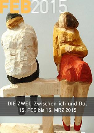 Grafik und Malerei von Vladimiro Miszak Holzobjekte von Edeltraud Hennemann  Der Maler Vladimiro Miszak und die Bildhauerin Edeltraud beschäftigen sich seit vielen Jahren in Ihren Arbeiten mit zwischenmenschlichen Themen. In ihrer ersten gemeinsamen Ausstellung treten sie mit Bildern und Objekten in einen Dialog.
