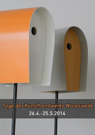 Zum zweiten Mal finden in Worpswede im Frühjahr 2014 die TAGE DES KUNSTHANDWERKS WORPSWEDE statt. Eine Präsentation des nationalen und internationalen Kunsthandwerks, die alle zwei Jahre unter einem anderen Motto veranstaltet wird, um die aktuelle Vielfalt der Gewerke darzustellen.