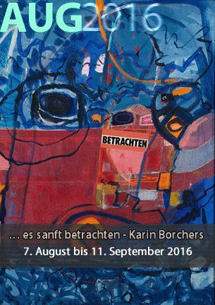 """""""…es sanft betrachten"""" So lautet der Titel einer sommerlichen Ausstellung der Worpsweder Malerin Karin Borchers vom 07. August bis zum 11. September 2016 in der Galerie Altes Rathaus."""