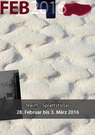 Die gemeinsame Ausstellung von Uta-Maria Heim und Peter-Jörg Splettstößer ist eine Ausstellung, die Lyrik und Zeichnung gleichberechtigt nebeneinander zeigt und den Besucher veranlasst, grundsätzlich unterschiedliche Medien wahrzunehmen und zu lesen.
