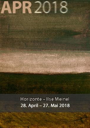 """Unter dem Titel """"Horizonte"""" zeigt die Worpsweder Malerin Ilse Meinel Farbharmonien in warmen und tiefen Tönen in Nass-Nass Technik auf schwerem Bütten-Aquarellpapier."""