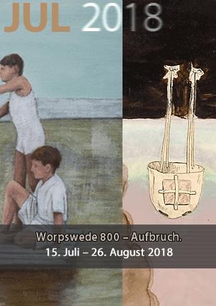 """Worpswede 800 – Aufbruch. Worpswede feiert seine 800-jährige Geschichte. Sie ist noch nicht vorbei, die Geschichte Worpswedes.  Geschichte bedeutet Aufbruch, Entwicklung, nicht Stillstand.  Zum Thema und der Idee """"Aufbruch"""" zeigen zeitgenössische Künstler aus Worpswede ihre Bilder, Skulpturen und Objekte vom 15. Juli bis 26. August 2018."""