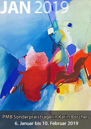 """Karin Borchers """"spielt"""" mit Farben, Farbkontrasten und Formen in ihren intensiven Bilder. So überraschen ihre Arbeiten immer wieder mit neuen Farbklängen von informell bis monochrom."""